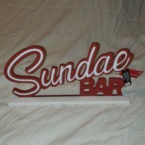 Other - *NWT* Sundae Bar sign